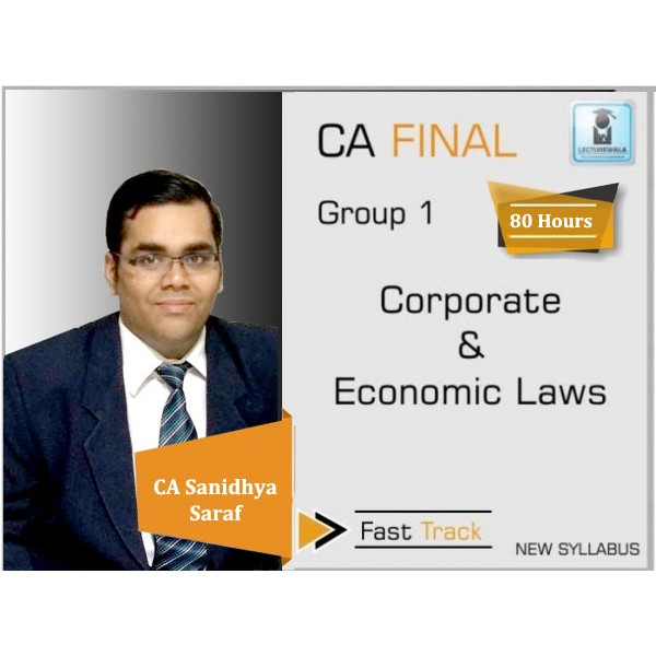 CA Final Law New Syllabus Crash Course : Video Lecture + Study Material By CA Sanidhya Saraf (For Nov. 2019)