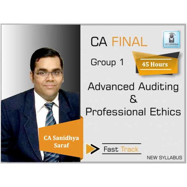 CA Final Audit Crash Course New Syllabus : Video Lecture + Study Material By CA  Sanidhya Saraf (For Nov. 2019)