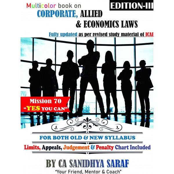 CA Final Corporate and Allied /Economic Law-Concept Book : Study Material By CA Sanidhya Saraf (For May 2020)