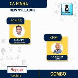 CA Final SCMPE (Latest Rec.) & SFM Combo Regular Course : Video Lecture + Study Material By CA Sanjay Aggarwal and CFA Sanjay Saraf (For Nov. 2021)