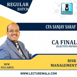 CA Final- Risk Management Full Course  Recording in Hindi : Video Lecture + Study Material by CFA Sanjay Saraf (For Nov. 2021)