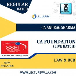 CA Foundation Business Laws and Business Correspondence and Reporting Live Batch Regular Course New Syllabus : Video Lecture + Study Material By CA Anurag Sharma (For Nov 2021 & May 2022)