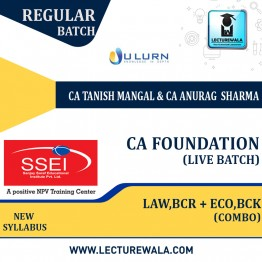 CA Foundation Combo (Law , BCR + Eco , BCK) Live Batch Regular Course New Syllabus : Video Lecture + Study Material By CA Tanish Mangal and CA Anurag Sharma  (For Nov 2021 & May 2022)