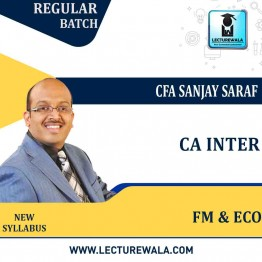 CA Inter Financial Management & Economics for Finance : Regular Lecture + Study Material by CFA Sanjay Saraf For (May/Nov. 2021)