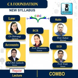 CA Foundation Combo (Law + Maths + Account + BCR + Economics) Regular Course : Video Lecture + Study Material By COC Education (For Nov. 2021)