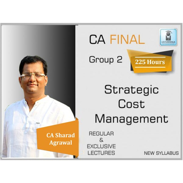 CA Final SCMPE New Syllabus Regular Course : Video Lecture + Study Material By CA Sharad Agrawal (For May 2020 & Nov. 2020)
