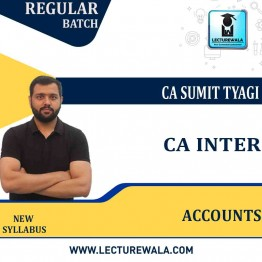 CA Inter Account (Paper - 1) New Syllabus Full Course : Video Lecture + Study Material by CA Sumit Tyagi (For Nov. 2021)