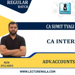 CA Inter Advance Account (Paper - 5) New Syllabus Full Course : Video Lecture + Study Material by CA Sumit Tyagi (For Nov. 2021)