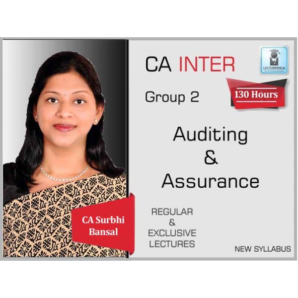 CA Inter Audit And Assurance Regular Course : Video Lecture + Study Material By CA Surbhi Bansal (For May 2020 & Onwards)
