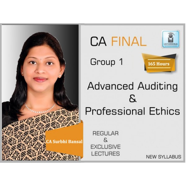 CA Final Audit New & Old Syllabus Regular Course : Video Lecture + Study Material By CA Surbhi Bansal (For Nov. 2019 & Onwards)