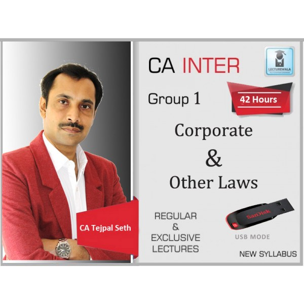 CA Inter Corporate & Other Laws Regular Course : Video Lecture + Study Material By CS Tejpal Sheth (For Nov. 2019)