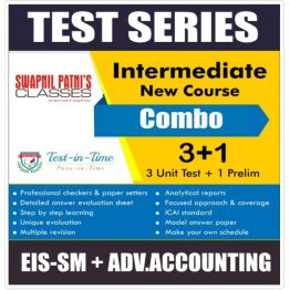 CA Inter EIS SM and Advance Accounting Combo Regular Course Test Serial Combo : By CA Anand Bhangariya and CA Swapnil Patni  (For MAY 2021 TO NOV.2021)