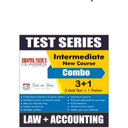 CA Inter Accounting and Law Combo Regular Course Test Serial Combo : By CA Anand Bhangariya and CA Ankita Patni (For Nov. 2020 and May 2021)