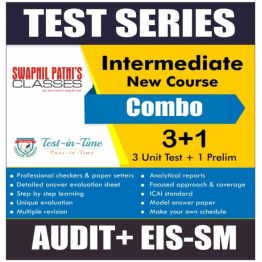CA Inter Eis Sm and Audit Combo Regular Course Test Serial Combo : By CA Swapnil Patni and CA Harshad Jaju (For MAY 2021 TO NOV.2021)