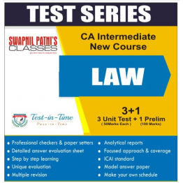 CA Inter Law Regular Course Test Serial  : CA Ankita Patni (For Nov. 2020 and May 2021)
