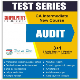 CA Inter Audit Regular Course Test Serial  : CA Harshad Jaju (For Nov. 2020 and May 2021)