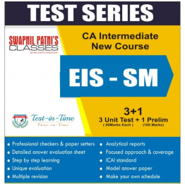 CA Inter EIS-SM Regular Course Test Serial  : CA Swapnil Patni (For MAY 2021 TO NOV.2021)
