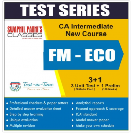 CA Inter FM-ECO Test Series : CA Swapnil Patni (For Nov. 2021 & May 2022)