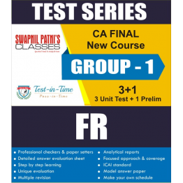 CA Final FR Regular Course Test Serial  : CA Swapnil Patni (For Nov. 2020 and May 2021)