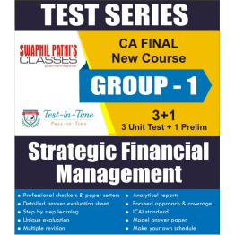 CA Final SFM Regular Course Test Serial  : CA Swapnil Patni (For MAY 2021 TO NOV.2021)