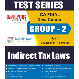 CA Final Group 2 Indirect Tax Laws  Regular Course  Test Serial  :  SPC  (For MAY 2021 TO NOV.2021)