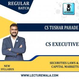 CS Executive Securities Laws & Capital Markets New Syllabus Regular Course : Video Lecture + Study Material By CS Tushar Pahade (DEC 2021 / JUNE 2022)