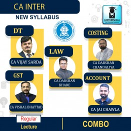 CA Inter Group 1 All Subjects Combo Newly Recorded Full Course : Video Lecture + Study Material By V Smart (For May 2021 & Nov. 2021)
