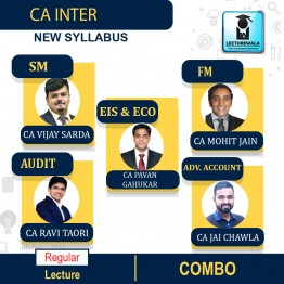CA Inter Group - 2 All Subjects Combo Regular Course : Video Lecture + Study Material By V Smart (For Nov. 2021 & May 2022)