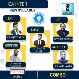 CA Inter Group 1 All Subjects Combo Newly Recorded Fastrack Course : Video Lecture + Study Material By V Smart (For Nov. 2021)