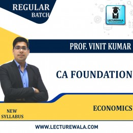 CA Foundation Economics + BCK Regular Course : Video Lecture + Study Material By Prof. Vinit Kumar (For Nov. 2021 & May 2022 & Nov. 2022)
