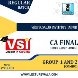 CA Final Both Group Combo Regular Course Combo : Video Lecture + Study Material By VSI (For May 2021 & Nov. 2021)
