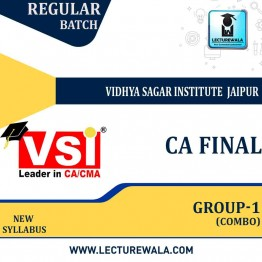 CA Final Group 1 Combo Regular Course Combo : Video Lecture + Study Material By VSI (For May 2021 & Nov. 2021)