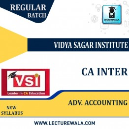 CA Inter Advance Account (Paper - 5) New Syllabus Regular Course : Video Lecture + Study Material by VSI (For Nov. 2021)