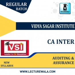 CA Inter Auditing and Assurance (Paper - 8) Regular Course : Video Lecture + Study Material By VSI (For Nov. 2021 )