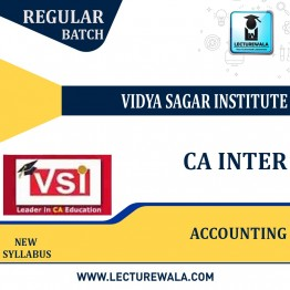 CA Inter Accounting (Paper-1) Regular Course : Video Lecture + Study Material By VSI (For Nov. 2021)