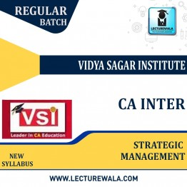 CA Inter Strategic Management (Paper -7) Regular Course : Video Lecture + Study Material By VSI (For Nov 2021)
