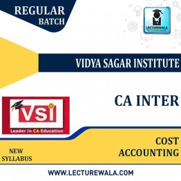 CA Inter Cost Accounting Regular Course Video Lecture + Study Material By VSI (For Nov. 2021)