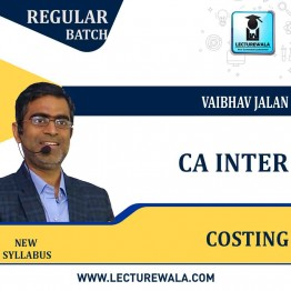 CA Inter COSTING  Regular Course : Video Lecture + Study Material By  Vaibhav Jalan (For MAY & NOV 2021)