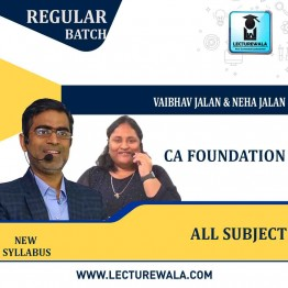 CA Foundation All Subject  Regular Course : Video Lecture + Study Material By Neha Jalan And Vaibhav Jalan (For MAY & NOV 2021)