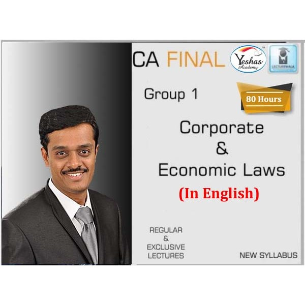 CA Final Corporate & Economic Law New Syllabus In English Regular Course : Video Lecture + Study Material By CA Vijay Raja (For Nov. 2020 & May 2021)