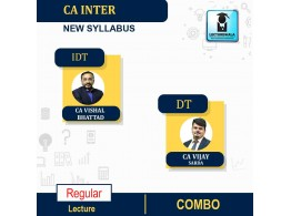 CA Inter GST and DT (Taxation) Live + Recorded New Batch  Regular Course : Video Lecture + Study Material By CA Vishal Bhattad and CA Vijay Sarda (For May 2022 & NOV.2022)