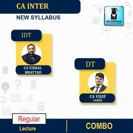 CA Inter GST and DT (Taxation)  Regular Course : Video Lecture + Study Material By CA Vishal Bhattad and CA Vijay Sarda (For Nov. 2021,May 2022 )