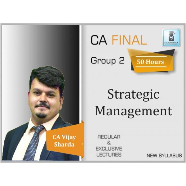 CA Inter (Strategic Management) SM Regular Course : Video Lecture + Study Material By CA Vijay Sarda Patni (For May 2020 & Nov. 2020)