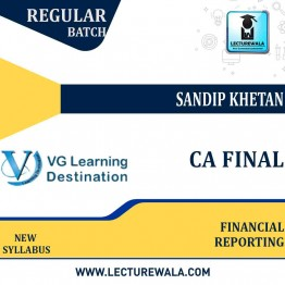 CA Final Financial Reporting Regular Course New Syllabus : Video Lecture + Study Material By Sandip Khetan (For May / Nov 2021)
