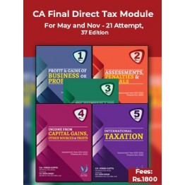 CA Final Direct Taxes All 05 Modules By Vinod Gupta (For May 2021 / Nov. 2021)