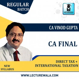 CA Final Direct Tax Law & International Taxation (Paper 7+6C) Regular Course : Video Lecture + Study Material By CA Vinod Gupta (For May 2022 & Nov.2022)