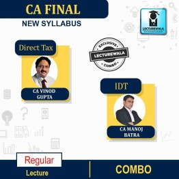 CA Final Direct Tax & Indirect Tax Combo Regular Course : Video Lecture + Study Material By CA Vinod Gupta & CA Manoj Batra For (MAY 2021.TO NOV.2021)