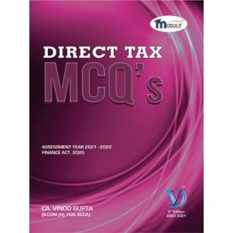CA Final Direct Tax MCQ's Book 37th Edition By CA Vinod Gupta (For Nov. 2021 and May 2022)