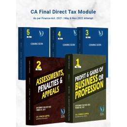 CA Final Direct Taxes All 05 Modules (Pre-Booking) By Vinod Gupta (For May 2022 / Nov. 2022)