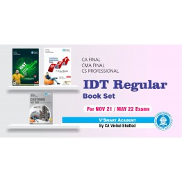 CA Final IDT (GST+Custom) Book Set : Study Material By CA Vishal Bhattad (For Nov. 2021 & May 2022)